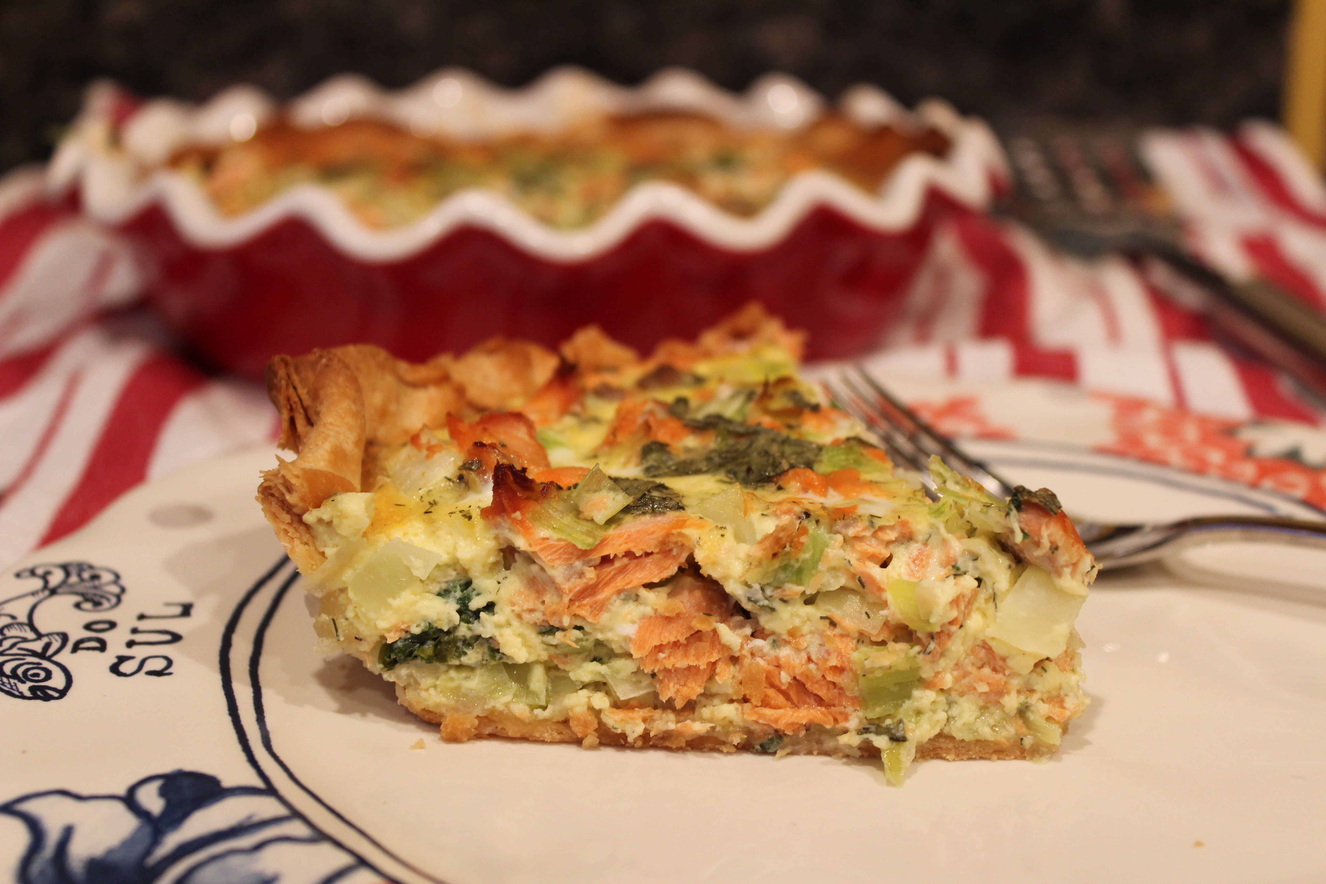 recipe salmon and watercress quiche hot smoked salmon watercress ...